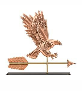 Copper Bald Eagle Weather Vane Sculpture