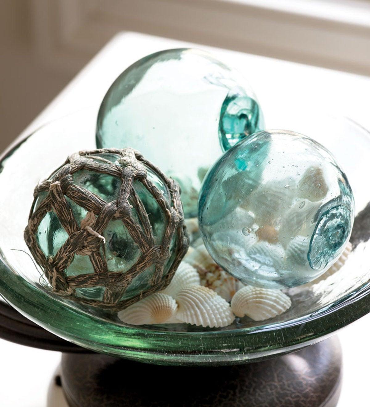 Sea Glass Globe Set   Wind and Weather