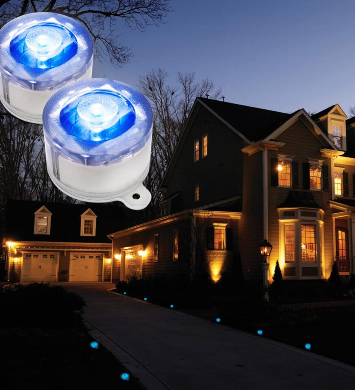 Solar Marker Lights - Blue