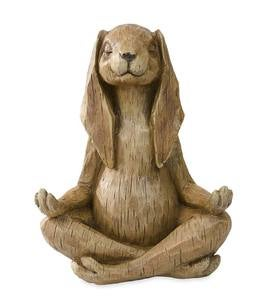 Yoga-Pose Rabbit Resin Garden Statue