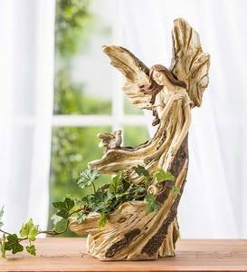 Woodlike Angel with Bird