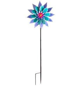 Purple and Blue Flower Wind Spinner