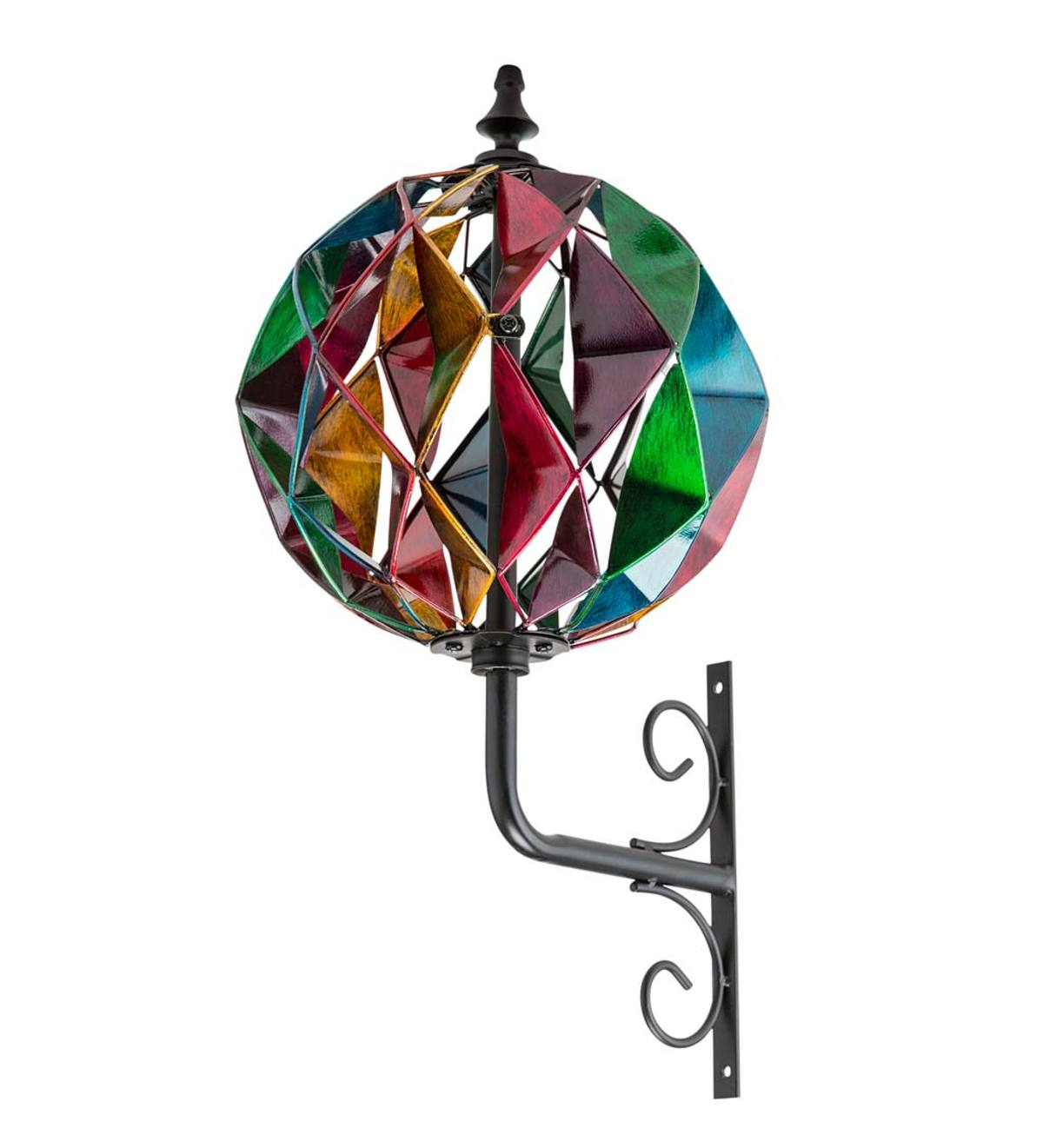 Colorful Harlequin Wall Mount Spinner - Multi