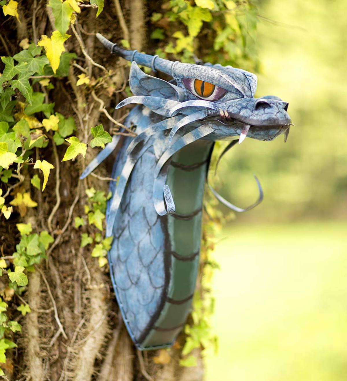 Metal Dragon Head | Yard & Garden Decor | Hidden and Searchable ...