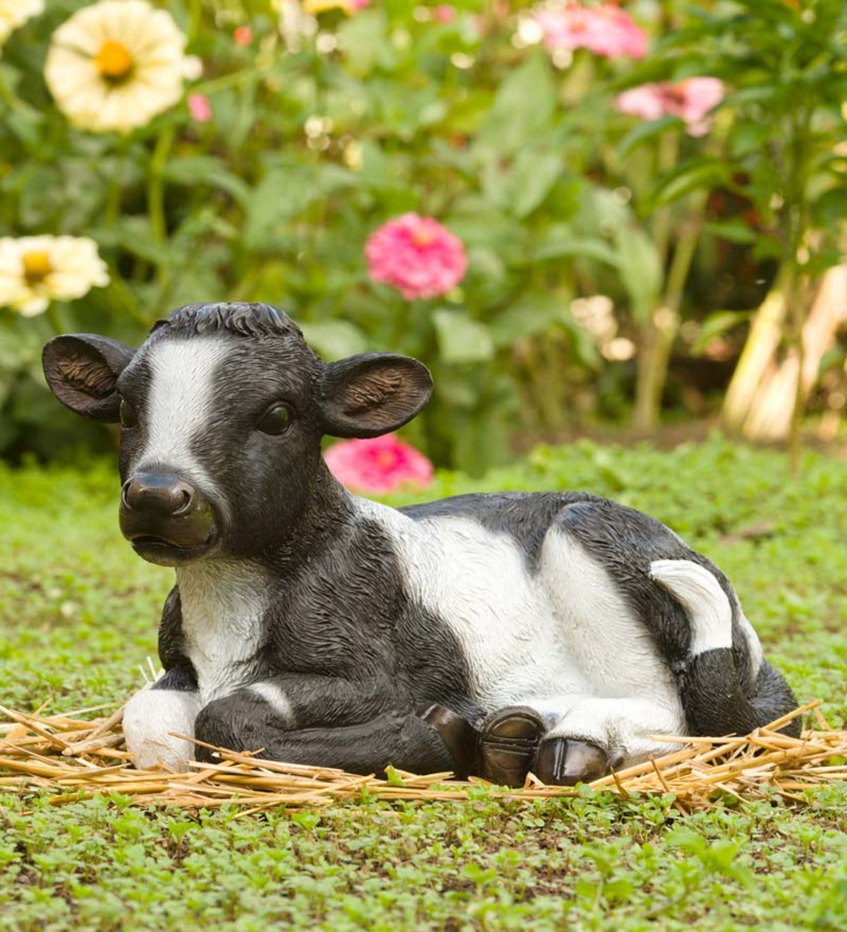 Baby Cow Garden Statue | Wind and Weather