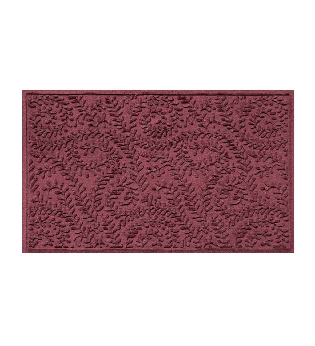 "Waterhog Indoor/Outdoor Leaves Doormat, 22"" x 60"" - Bordeaux"