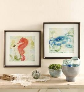 Framed Sealife Wall Art - Free 2 Day Delivery - Seahorse