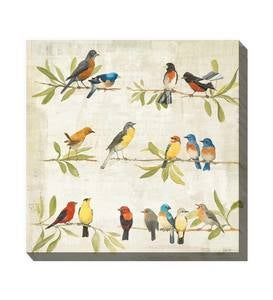Birdsong Outdoor Canvas Wall Art