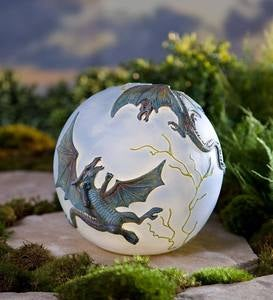 Lighted Resin Dragon Globe