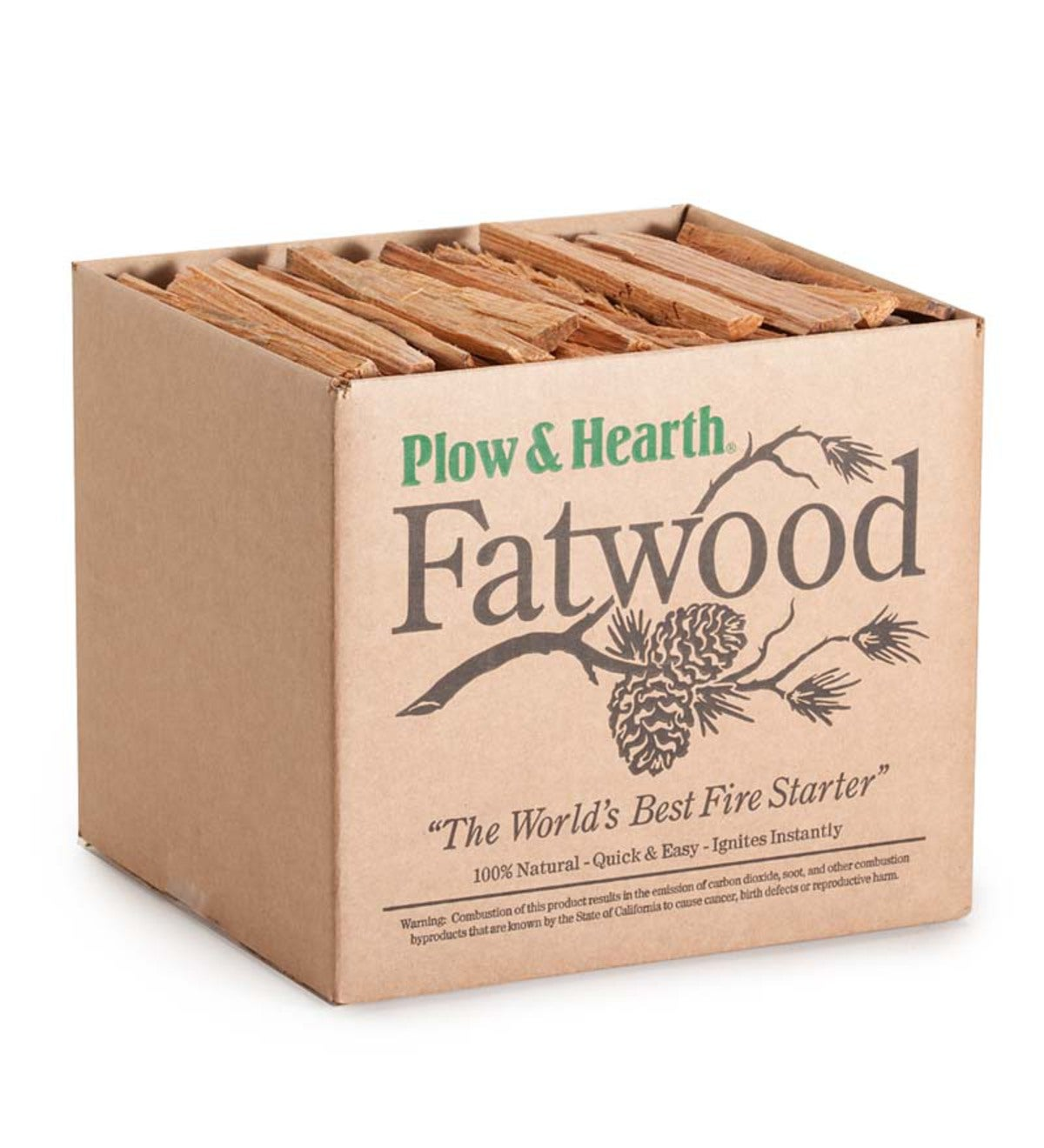 10 lb. Box Of Fatwood Kindling Fire Starter Sticks