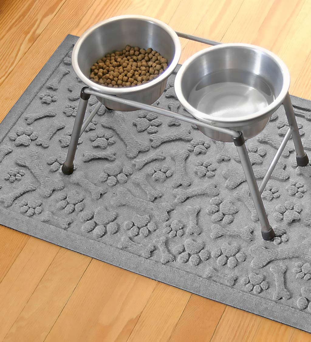 "Waterhog Paws and Bones Doormat, 18"" x 28"" - Dark Brown"
