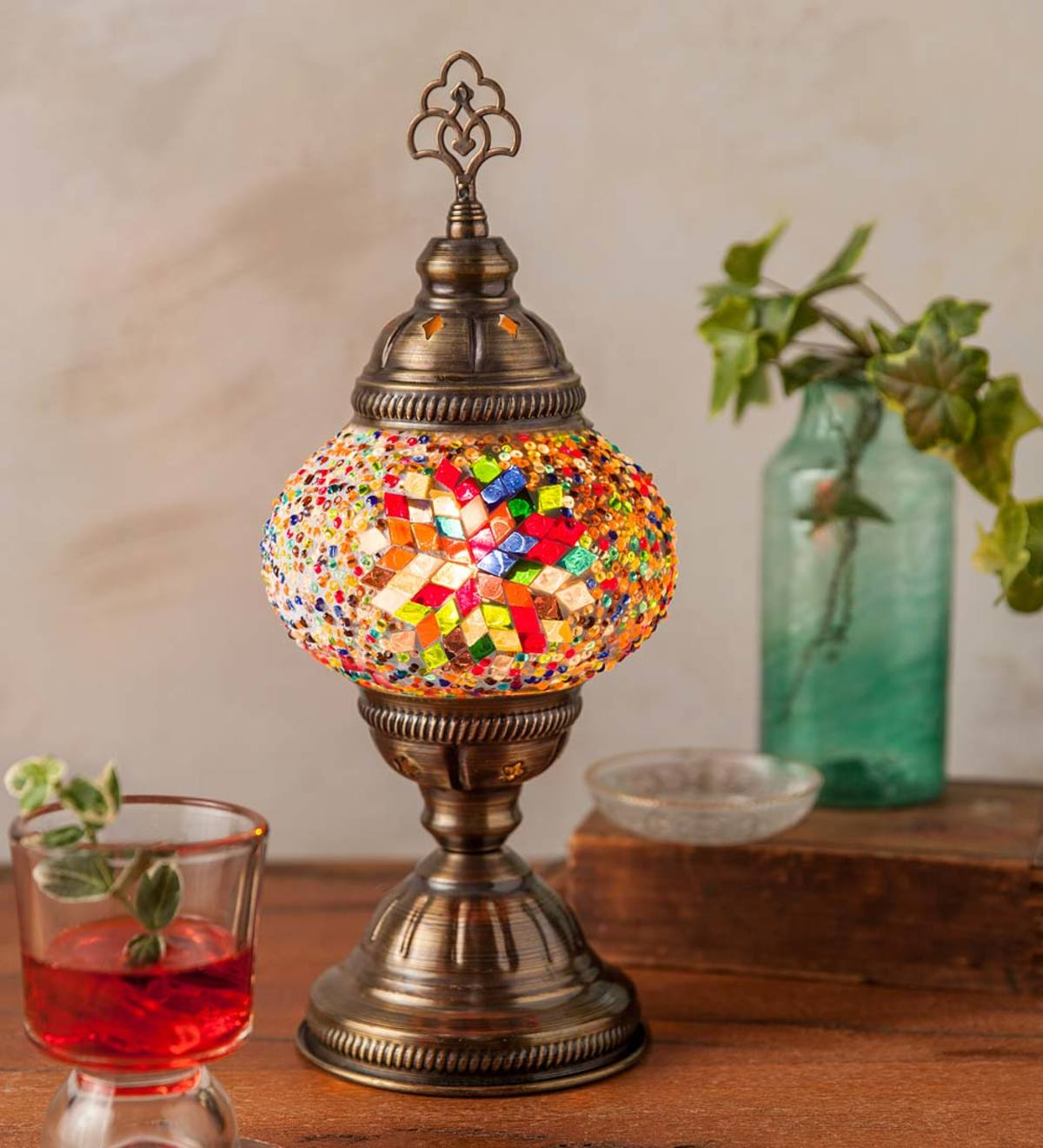 Handcrafted Turkish Glass Mosaic Lamp