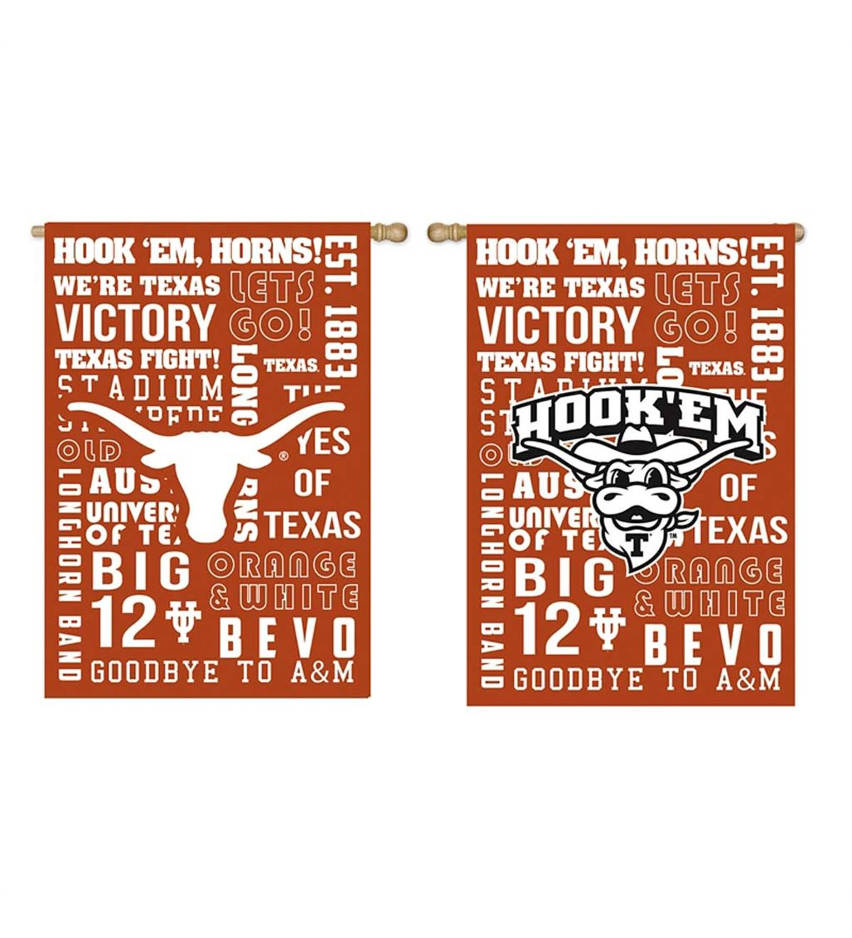 Double-Sided Fan Rules College Team Pride Sueded House Flag - Univ of Texas
