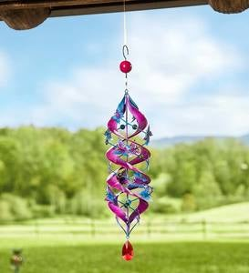 Metal Butterfly Hanging Helix Spinner