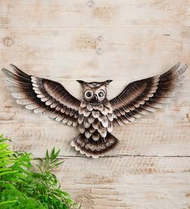 Metal Owl Wall Art