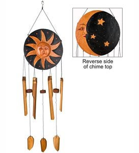 Sun And Moon Bamboo Wind Chime