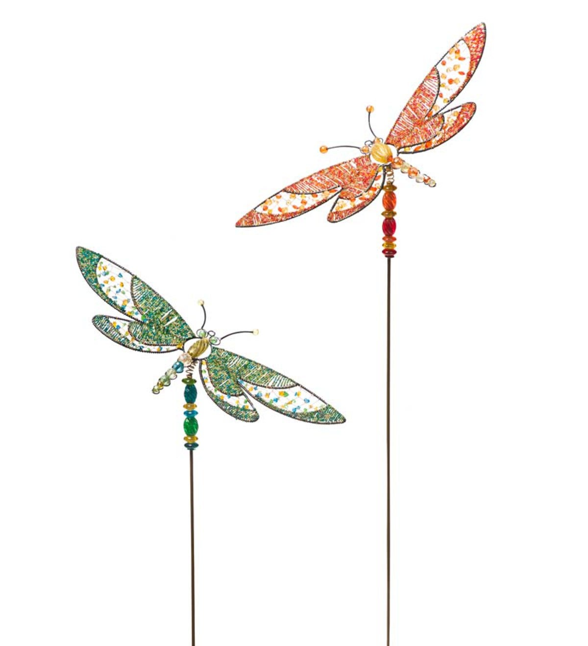Beau Beaded Dragonfly Garden Stake
