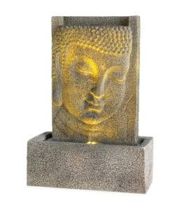 Lighted Buddha Face Fountain