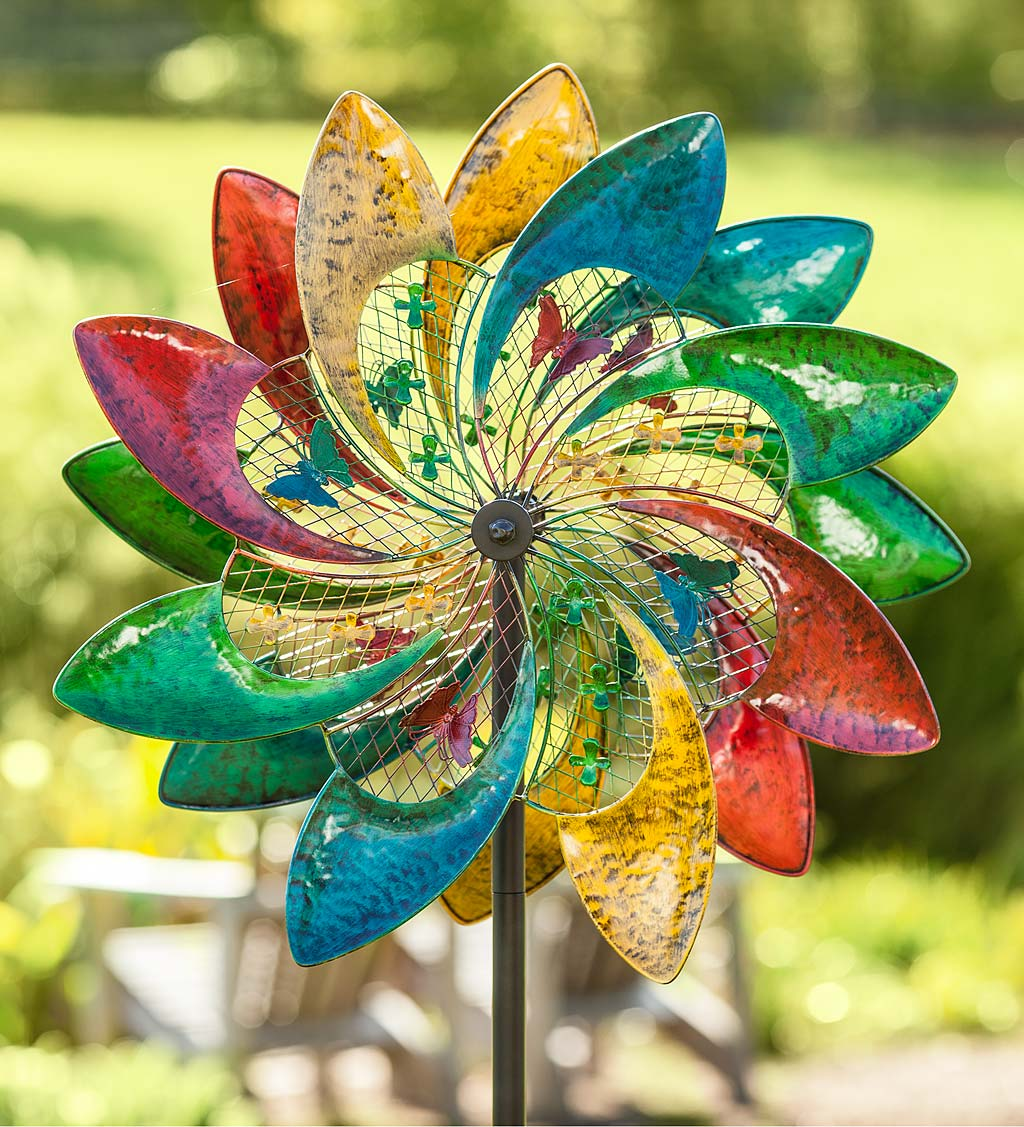 Colorful Mesh Wind Spinner