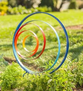 Large Colorful Circle Stake
