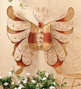 Oversize Metal Butterfly Wall Art