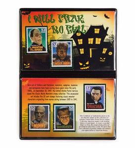 Classic Movie Monster Stamp Collection