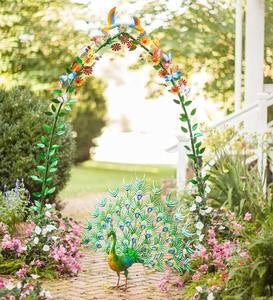 Metal Flowers, Birds and Butterflies Garden Arch