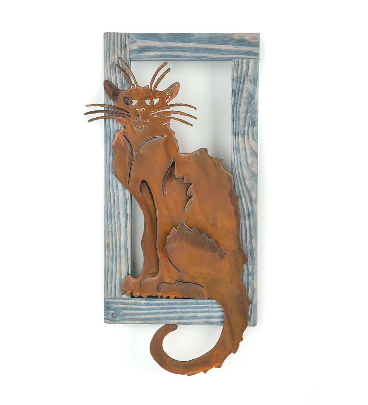 Le Chat Noir Metal and Wood Wall Art