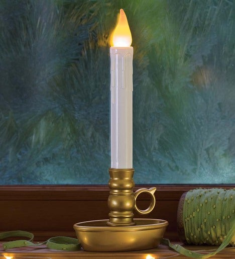 Single Cordless Battery Candle with Timer