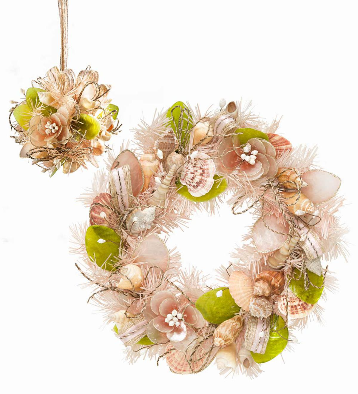 Floral Shell Wreath