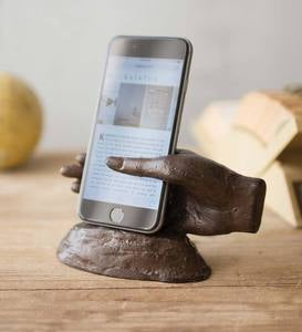 Cast Iron Hand-Shaped Smartphone Stand