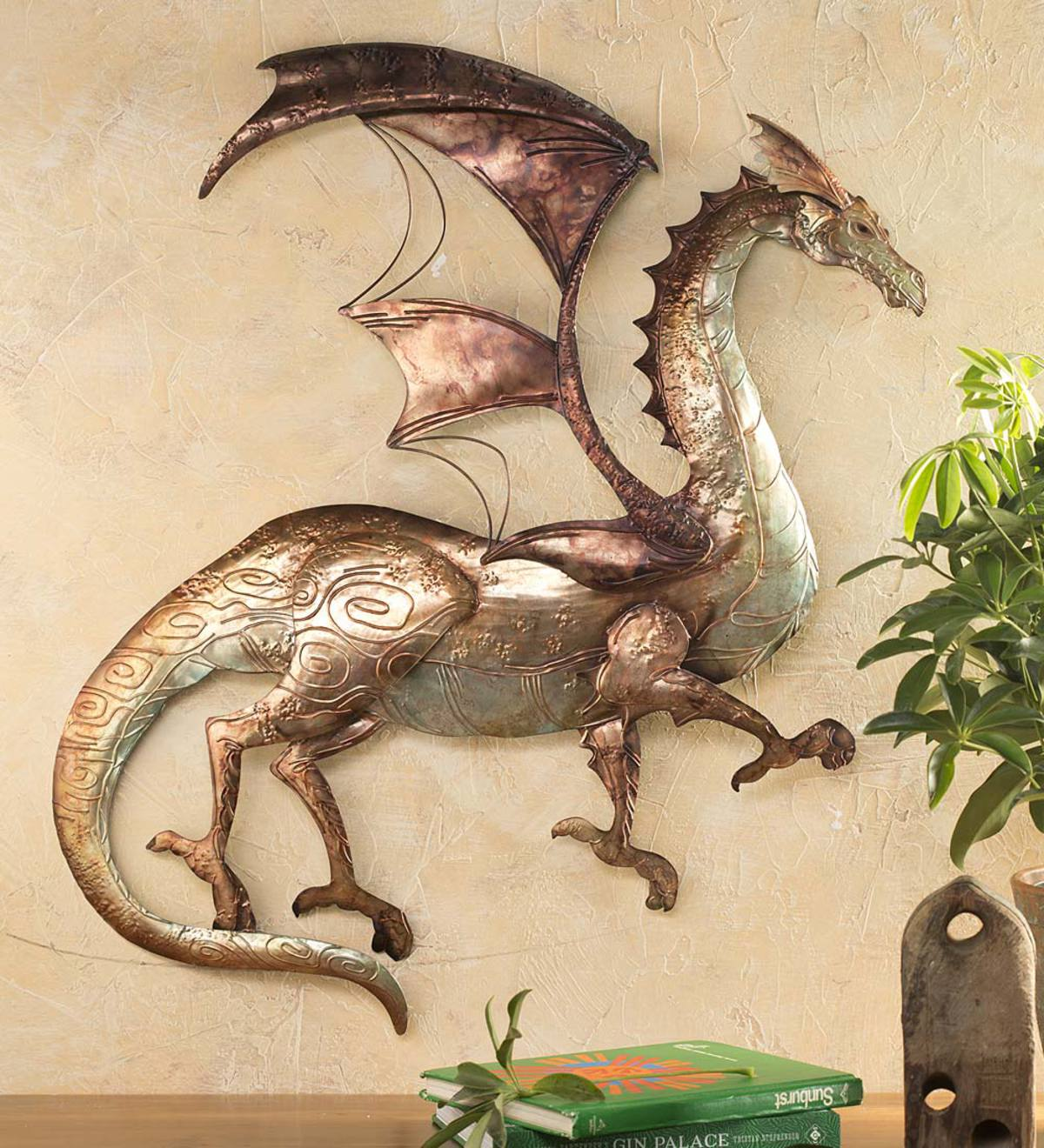 Tin Dragon Wall Art