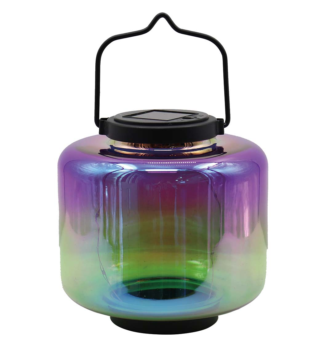 Square Iridescent Ombre Lantern - Purple
