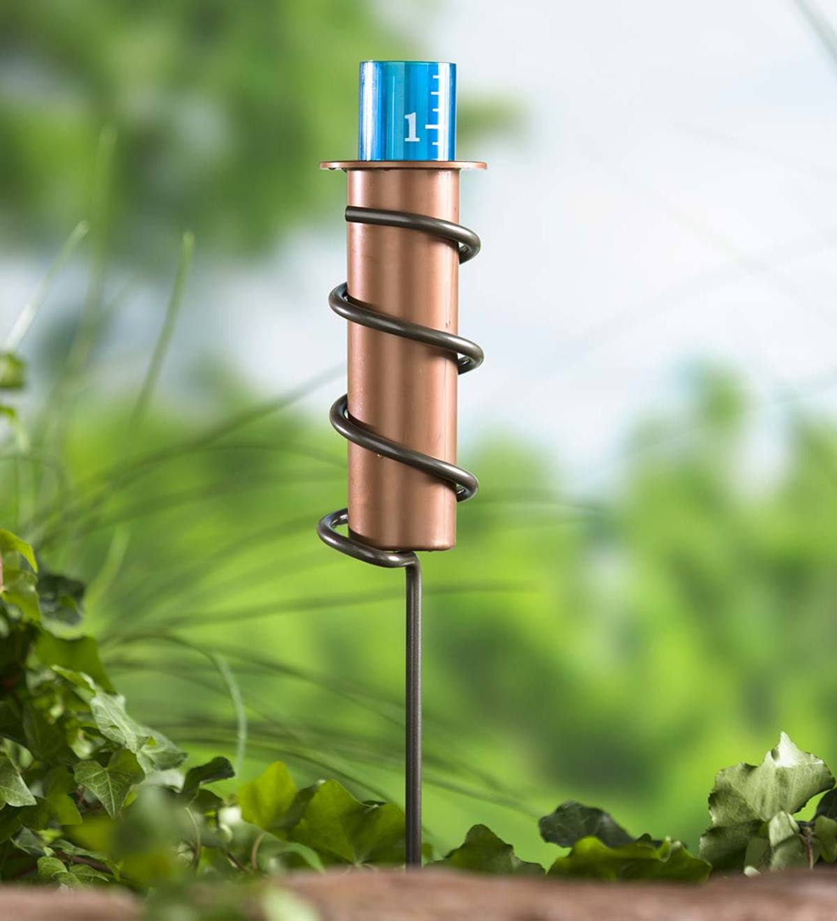 Plastic Floating Rain Gauge with Metal Stake