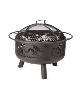 Dragon-Themed Steel Fire Pit