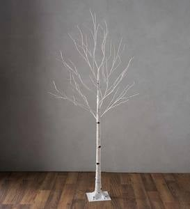 Large Indoor/Outdoor Birch Tree with 600 Warm White Lights - Brown