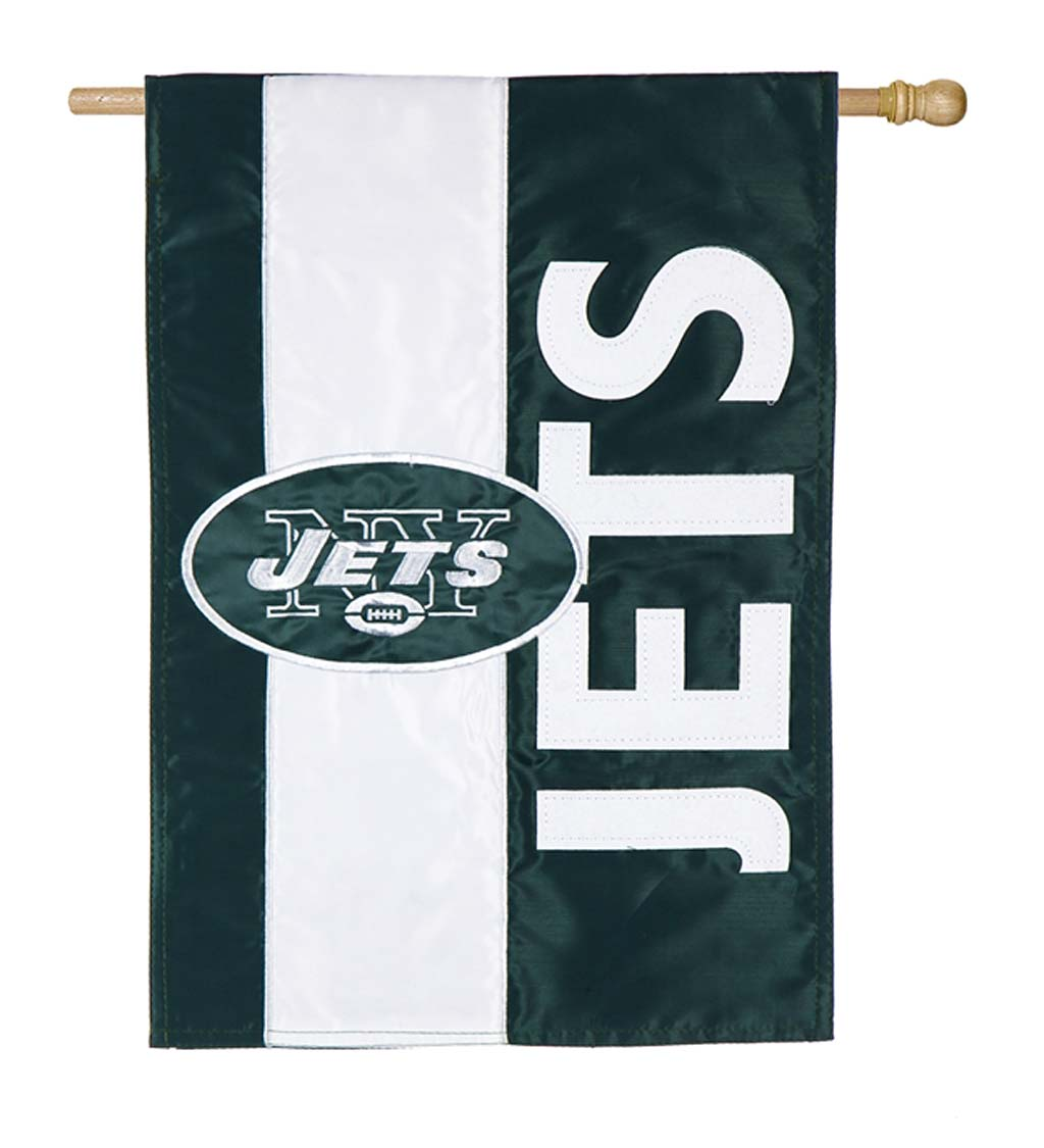 Double-Sided Embellished NFL Team Pride Applique House Flag