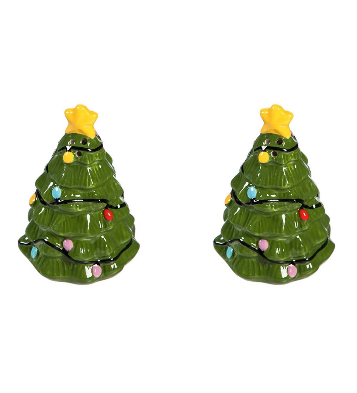 Christmas Tree Salt and Pepper Shaker Set