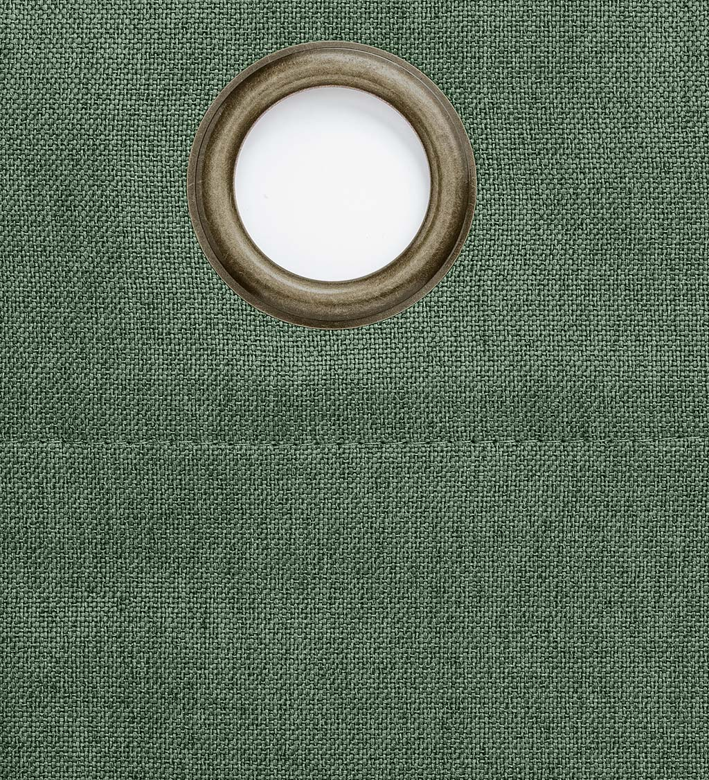 "Madison Double-Blackout Grommet Curtain Pair, 40""W x 84""L per panel - Spruce"