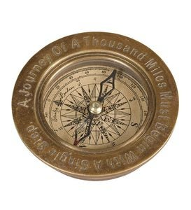 Antique Brass Compass - Gandhi Compass