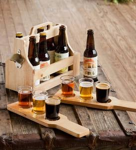 Beer Tasting Set with 6-Pack Holder and Bottle Opener