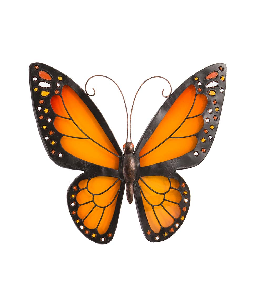 Metal and Plexiglass Butterfly Wall Art