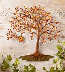 Autumn Tree Metal Wall Art