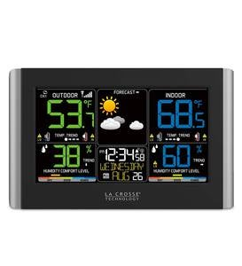 Horizontal Color Display Full-Function Weather Station with Wireless Remote Sensor