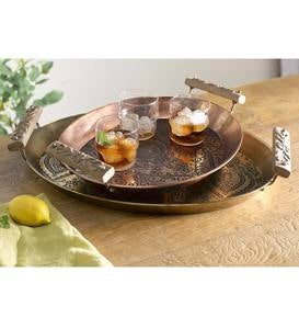 Metal Serving Trays, Set of 2