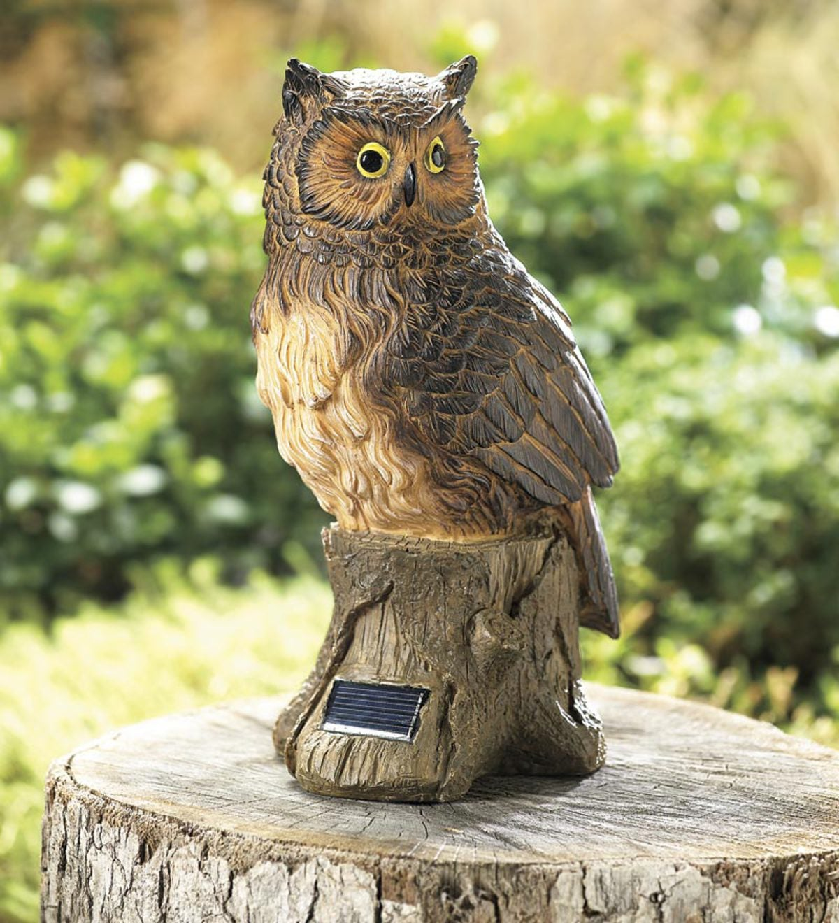 Solar Night Owl Garden Statue