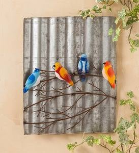 Birds on a Limb Metal Wall Art