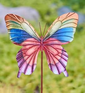 Colorful Handcrafted Metal Butterfly Garden Stake