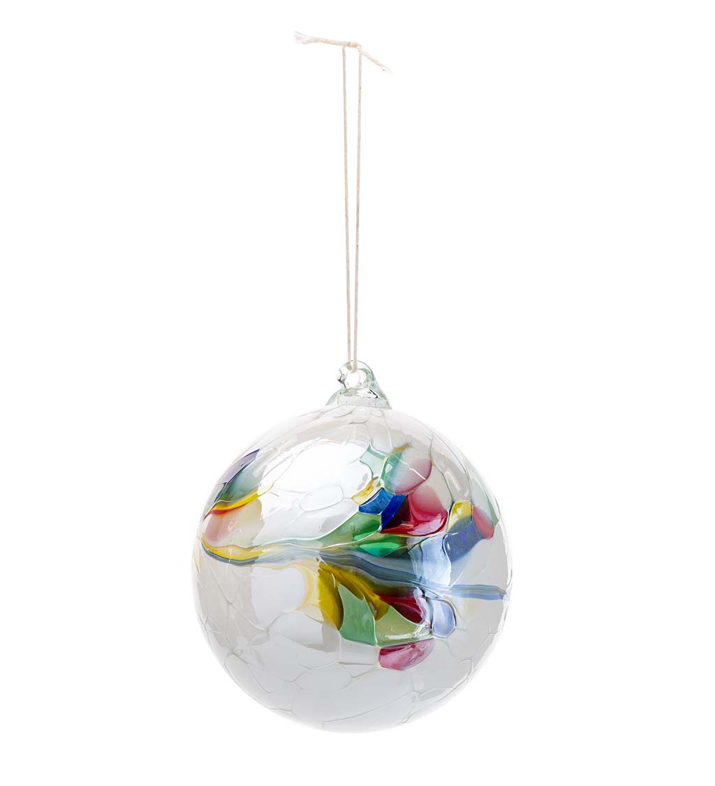 Individually Hand-Blown Glass Globe Holiday Ornament swatch image