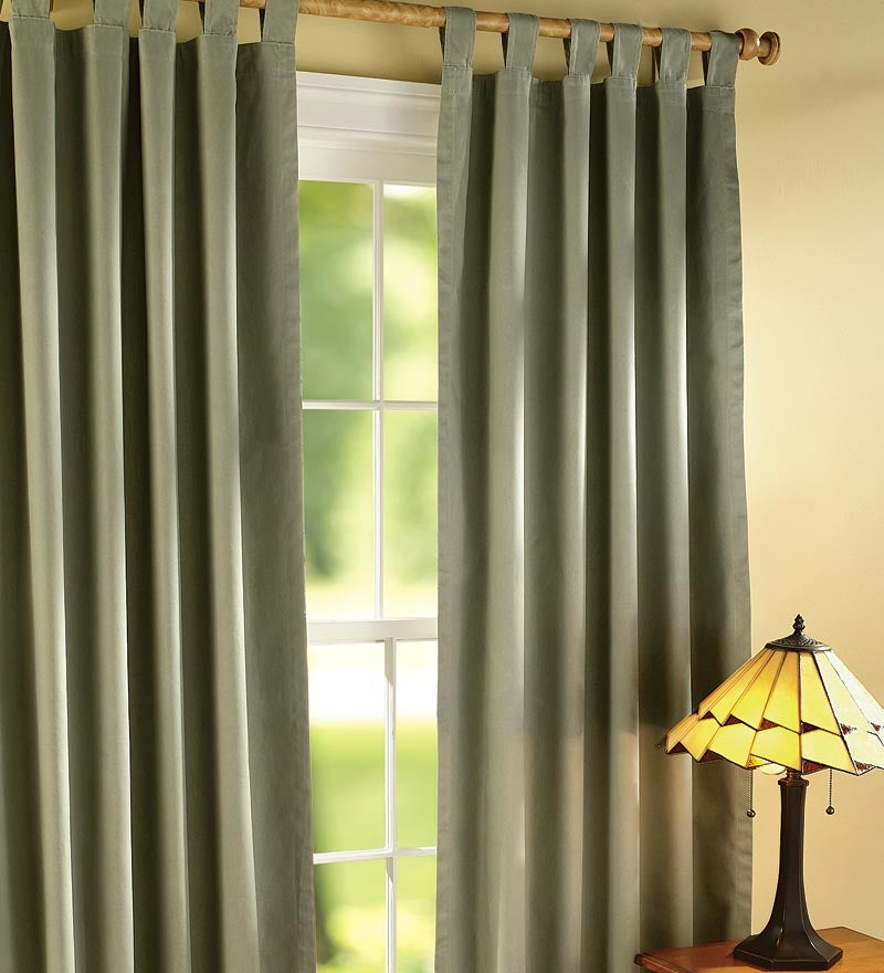 "72""L Thermalogic Energy Efficient Insulated Solid Tab-Top Curtain Pair"
